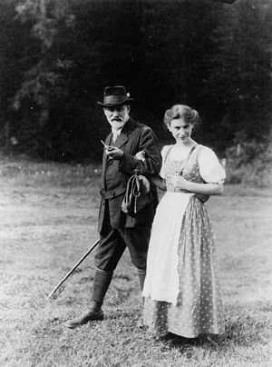 Sigmund and his daughter Anna Freud