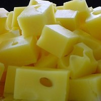 Cubes of Swiss cheese