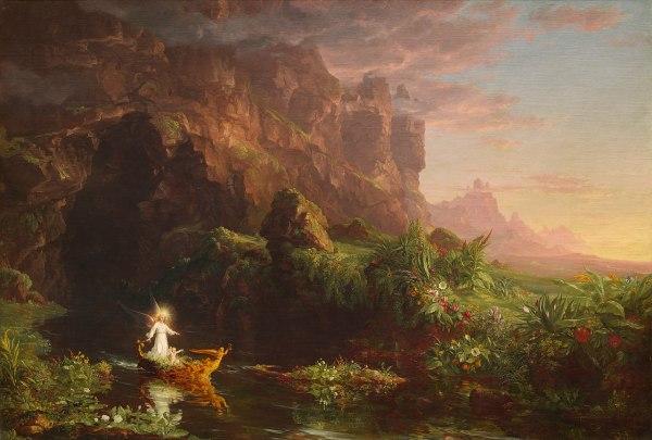 File Thomas Cole - Voyage Of Life Childhood 1842