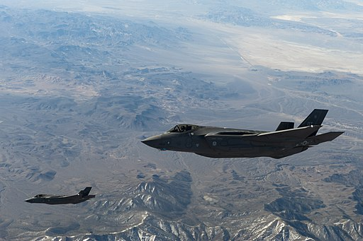 Two U.S. Air Force F-35 Lightning IIs assigned to the 31st Test and Evaluation Squadron