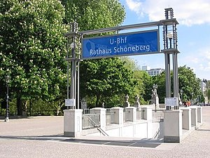 "English: Entrance to the U-Bahn-station ""..."