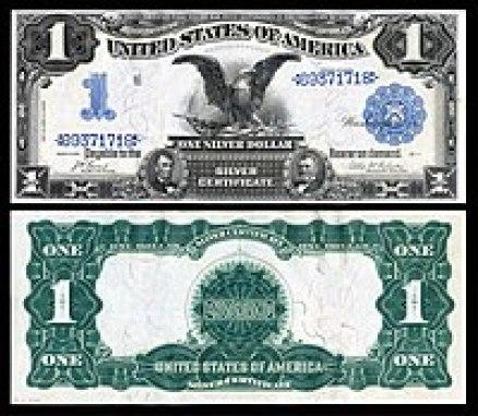 Certificado de Plata de $ 1, Series 1899, Fr.226, representando Abraham Lincoln y Ulysses Grant