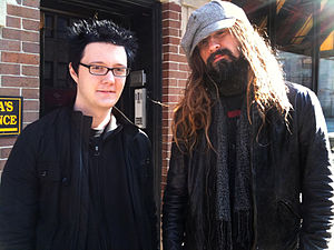 English: Rob Zombie and a fan.