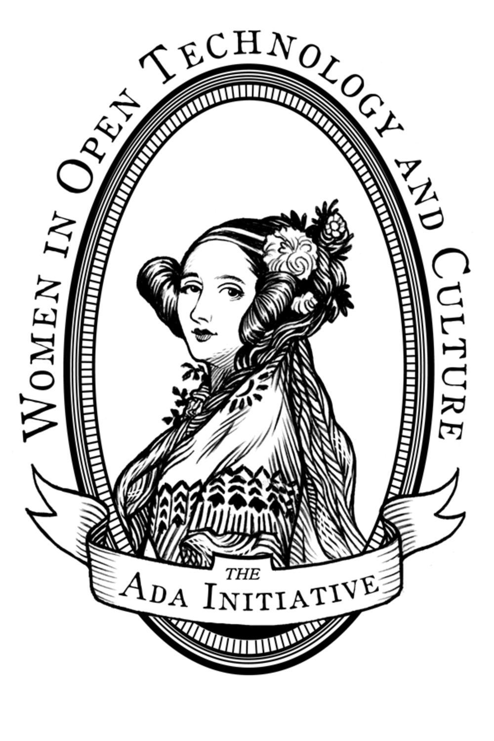 File:Ada Initiative logo (Ada Lovelace portrait, black and