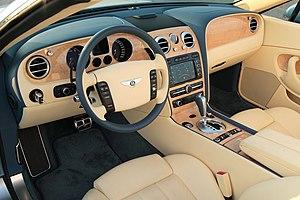 Bentley Continental GTC dashboard.