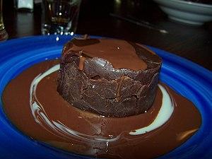 A fudge cake