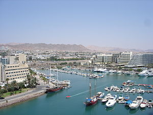 Eilat seaside resort on the Red Sea