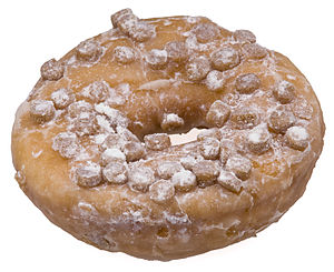 English: An Entenmann's crumb donut, bought fr...