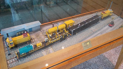 Scale model of a MTR works train (photo by TeaLaiumens, via Wikimedia Commons)