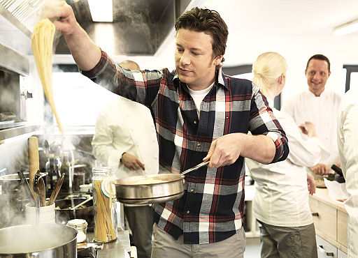 Jamie Oliver cooking