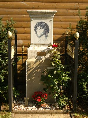 English: Jim Morrison Memorial in Berlin-Baums...