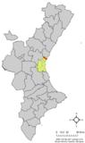 Localización del Puig respecto al Pa�s Valenciano