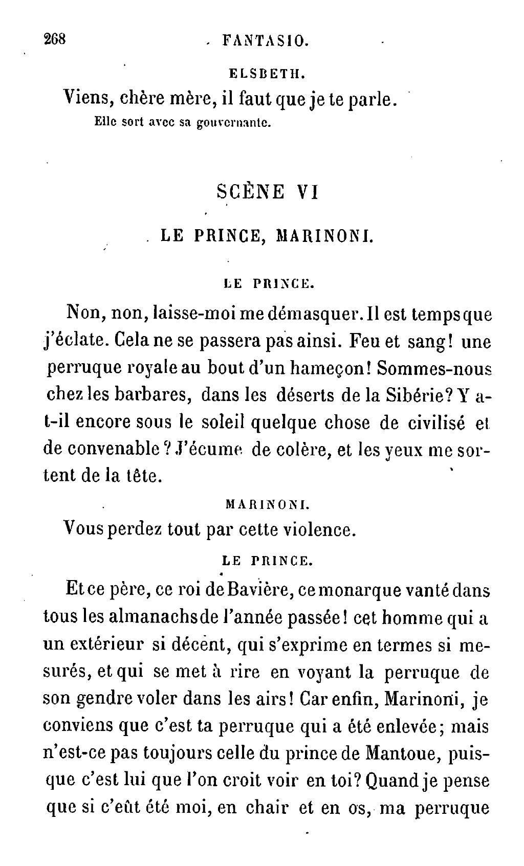Le Prince Il Parle Pas à Toi : prince, parle, Page:Musset, Œuvres, Complètes, D'Alfred, Musset., Comédies, I.djvu/273, Wikisource