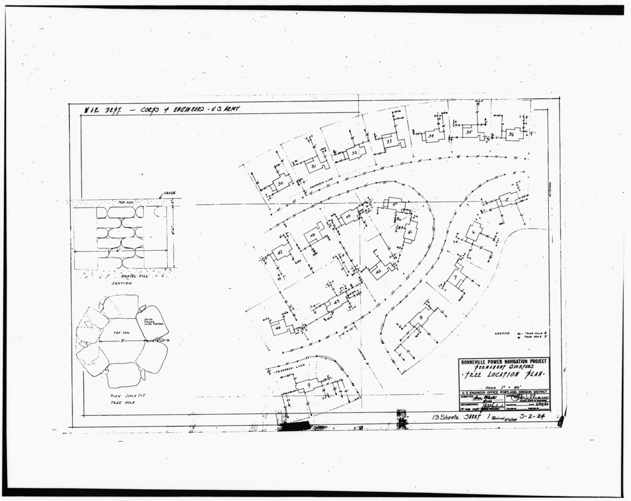 File Photocopy Of Original Landscape Drawing Dated 25