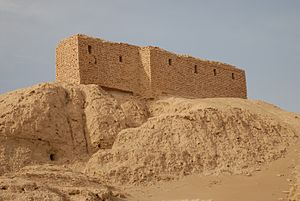 English: Ruins from a temple in Naffur (ancien...