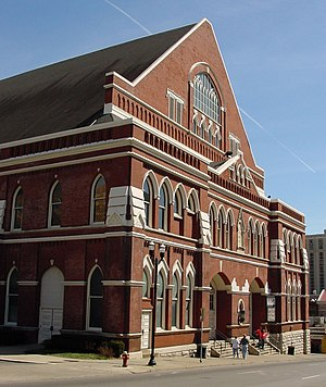 Ryman Auditorium, where The Byrds made their a...