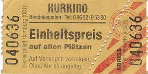 An unseparated ticket for the Kurkino in Berch...
