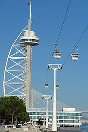 Torre Vasco da Gama e teleférico adjacente