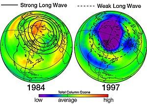 English: Ozone Depletion comparison in North A...