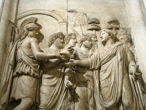 0 Monument honoraire d'Hadrien - L'empereur accueilli par la déesse Rome