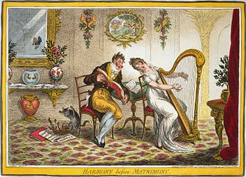 In Harmony before Matrimony (1805), James Gill...