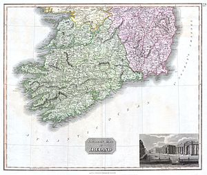 A scarce 1814 map of southern Ireland by John ...