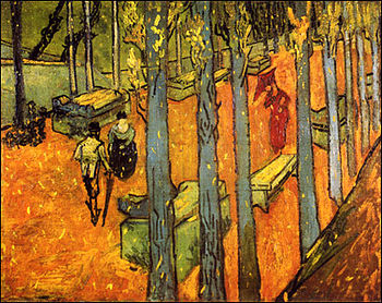 Les Alyscamps, Falling Autumn Leaves, Vincent ...