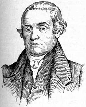 English: Portrait drawing of Noah Webster, Ame...