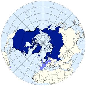 English: Arctic Council members map