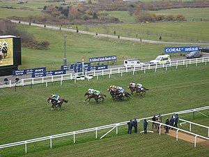 Photograph of the finishing post, Ascot Raceco...