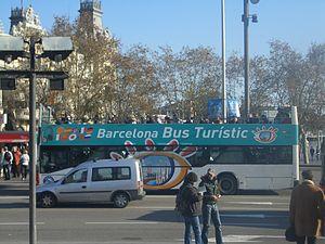 Bus turístico en Barcelona,España.