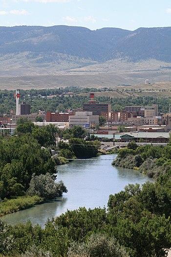 English: Improved skyline image of Casper Wyoming