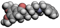 3d molecular spacefill of Donepezil