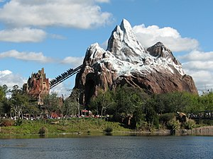 The Expedition Everest roller coaster attracti...