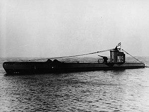 British U class submarine HMSM UTMOST underway.