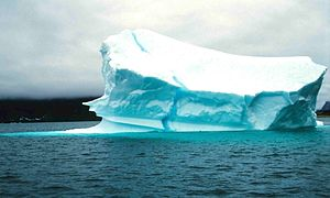 Iceberg near north-eastern coast of Baffin Island
