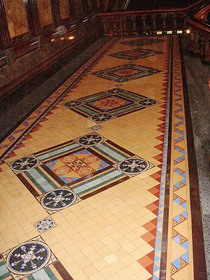 Iowa State Capitol, floor tile detail