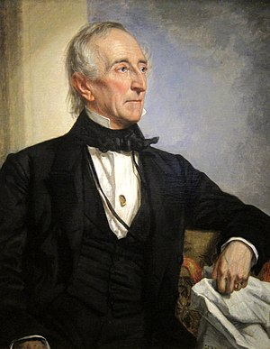 English: A portrait of John Tyler located insi...
