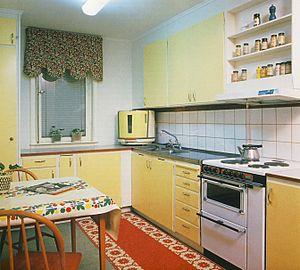 Svenska: Svensk standardkök från 1950-talets s...