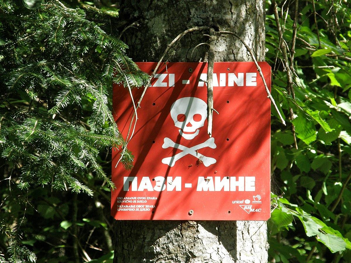 Land mine contamination in Bosnia and Herzegovina  Wikipedia