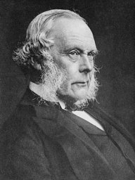 Joseph Lister, 1st Baron Lister, at age 69; ta...
