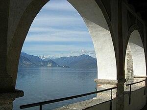 English: Lake Maggiore from Santa Caterina del...