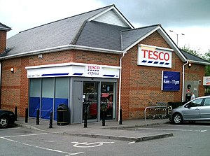 English: Tesco Express local store in Trowbrid...