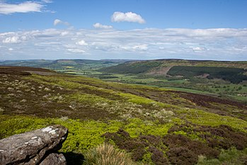 English: The Cleveland Hills from Urra Moor