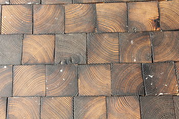 English: Wooden floor tiles