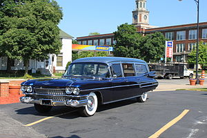 English: 1959 Cadillac hearse, Janowiak Funera...