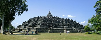 English: Borobudur temple view from northeast ...
