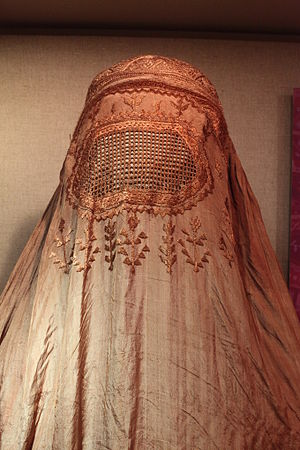 English: Silk burqa, 2oth century
