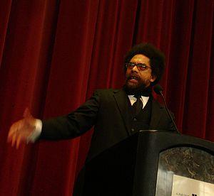 Cornel West, keynote speaker at the Martin Lut...