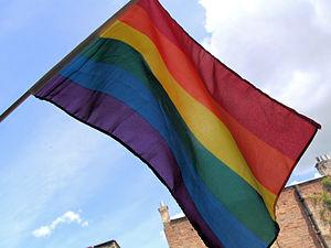 LGBT rainbow flag.